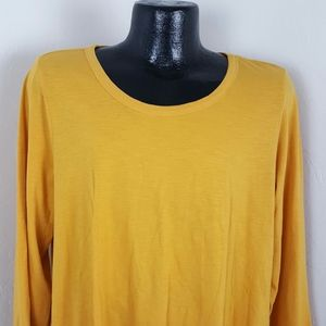 Logo Lori Goldstein top tunic long sleeve size XL